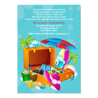 Tropical Get-Away Bachelorette Party Invitation