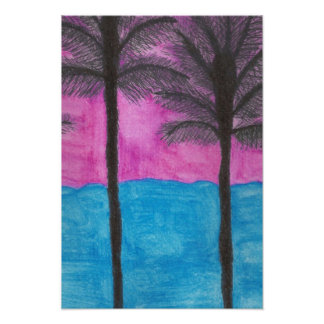 Tropical Getaway Watercolor Art Print