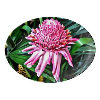 Tropical Ginger Flower Platter