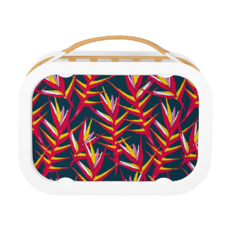 Tropical ginger printed embroidery lunch box