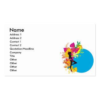 tropical girl vector design business card