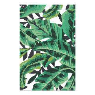 Tropical Glam Banana Leaf Pattern Customized Stationery