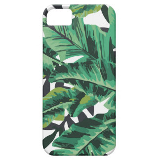Tropical Glam Banana Leaf Pattern iPhone 5 Cover