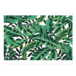 Tropical Glam Banana Leaf Pattern Postcard