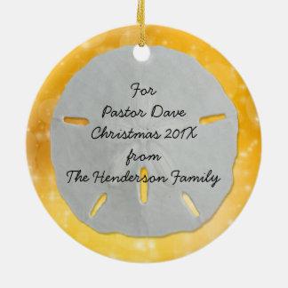 Tropical Gold Christian Scripture Pastor Ornament