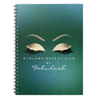 Tropical Gold Glitter Eyes Makeup Beauty Luxury Notebook