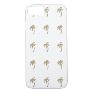 Tropical Gold Glitter Palm Trees iPhone 7 Case