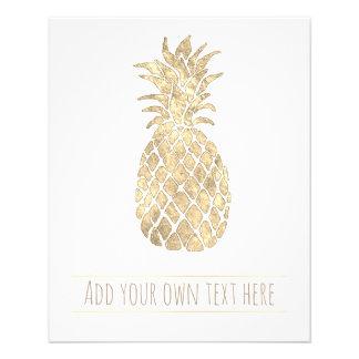 tropical golden pineapple flyer