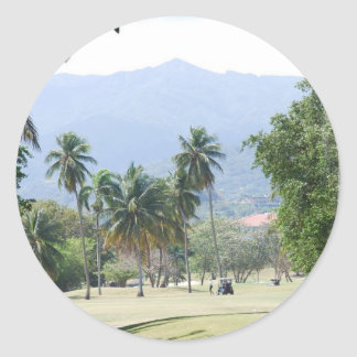 Tropical Golf Course Stickers