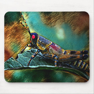Tropical Grasshopper Mouse Pad by Artful Oasis