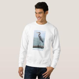 Tropical Great Blue Heron Mens Sweatshirt