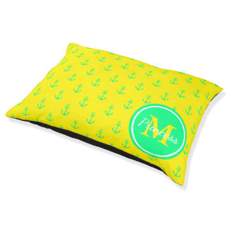 Tropical Green and Sunshine Yellow Anchor Monogram