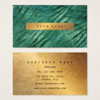 Tropical Green Cali Grungy Gold Jungle Vip Business Card