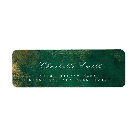 Tropical Green Gold Return Address Labels