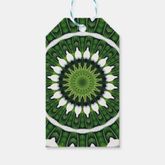 Tropical Green Mandala Gift Tags