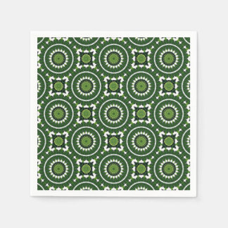 Tropical Green Mandala Paper Napkin
