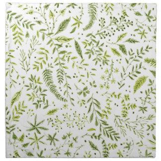 Tropical green pattern napkin