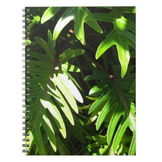 Tropical green spiral notebook