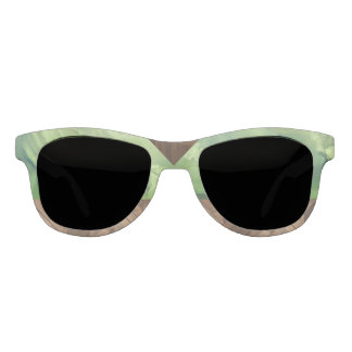 Tropical Green Stone and Wood Statement Sunglasses