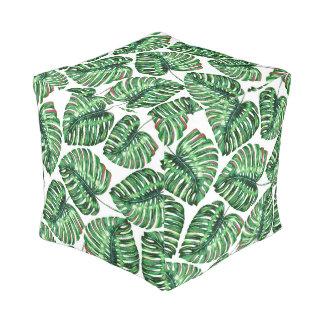 Tropical Greenery Pouf