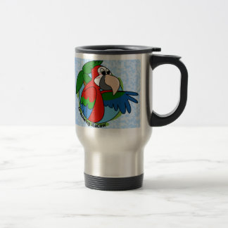 Tropical Greenwing Macaw Travel Mug