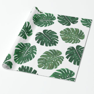 Tropical Hand Painted Swiss Cheese Plant Leaves