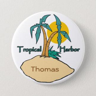 Tropical Harbor 7.5 Cm Round Badge