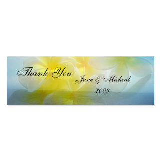 Tropical Haven Wedding Pack Of Skinny Business Cards