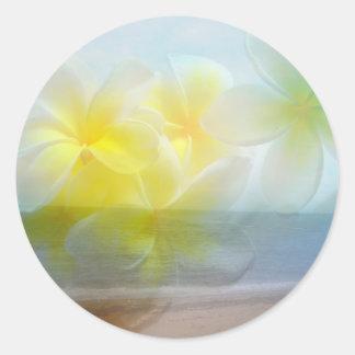 Tropical Haven Wedding Classic Round Sticker