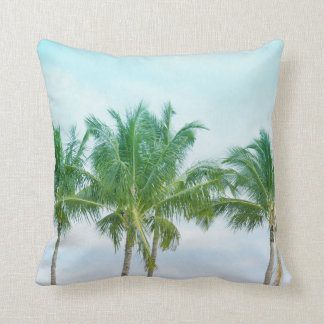 Tropical Hawaii Palm Trees Cushion