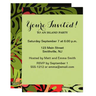 Tropical Hawaii Party Invitation Custom Template