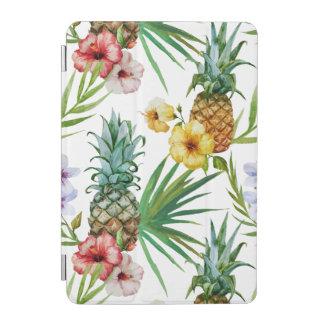 Tropical hawaii theme watercolor pineapple pattern iPad mini cover