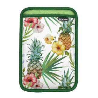Tropical hawaii theme watercolor pineapple pattern iPad mini sleeve
