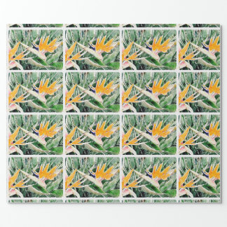 Tropical Hawaiian Bird of Paradise Wrapping Paper