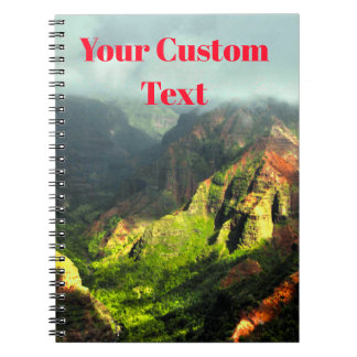 Tropical Hawaiian Fogy Mountains Notebook
