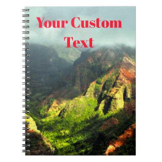 Tropical Hawaiian Fogy Mountains Spiral Notebook