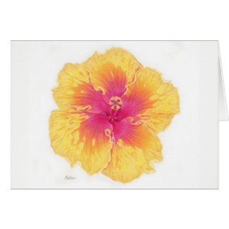 Tropical Hawaiian Hibiscus Flower Greeting Card