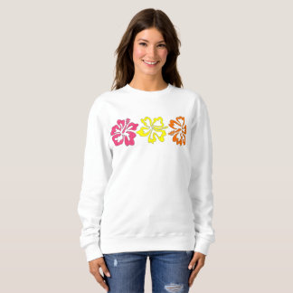 Tropical Hawaiian Hibiscus Flowers Sweatshirt