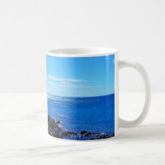 Tropical Hawaiian Island Rocky Beach Coffee Mug