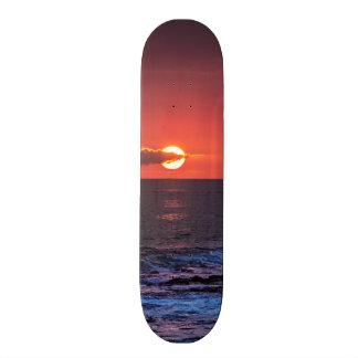 Tropical Hawaiian Ocean Sunset Background - Hawaii Skate Board Deck