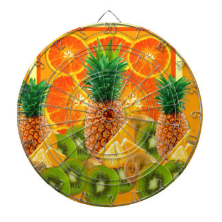 tropical  HAWAIIAN PINEAPPLE & ORANGE SLICES KIWI Dartboard