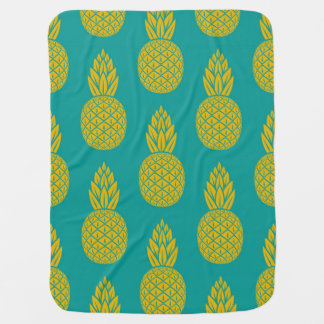 Tropical Hawaiian Pineapple Pattern Baby Blanket
