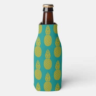 Tropical Hawaiian Pineapple Pattern Bottle Cooler