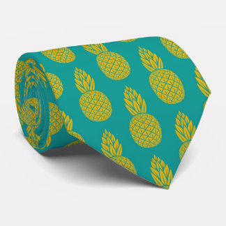 Tropical Hawaiian Pineapple Pattern Tie