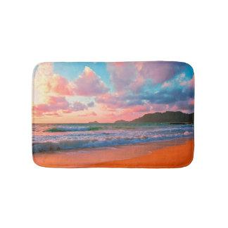 Tropical Hawaiian Sunset Bath Mat