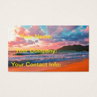 Tropical Hawaiian Sunset Business Card