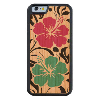 Tropical Hawaiian Theme Carved Cherry iPhone 6 Bumper Case