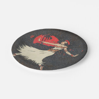 Tropical Hawaiian Vintage Hula Dancer | Luau Party Paper Plate