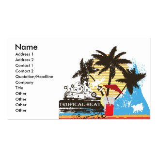 tropical heat design business card template