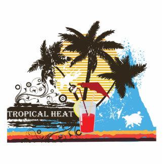 tropical heat design photo cutouts